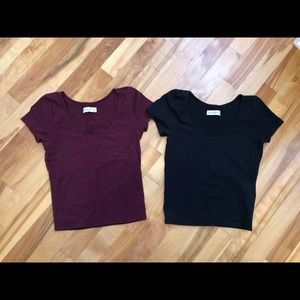 LOT of 2 Abercrombie & Fitch Crop Tops! Small!
